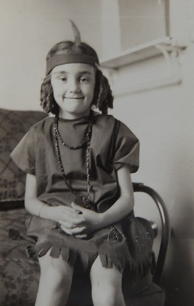 Little Girl In Halloween Costume 1939 Photograph