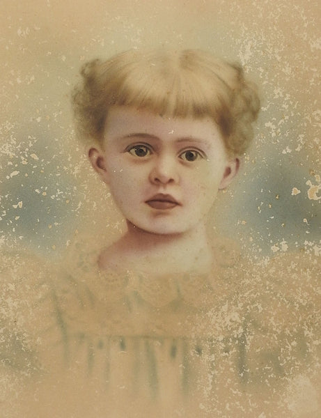 Ethereal Distressed Hand Tinted Photographic Portrait