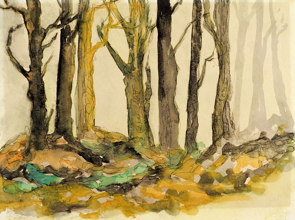mysterious forest watercolor painting artifax antiques design mysterious forest watercolor painting
