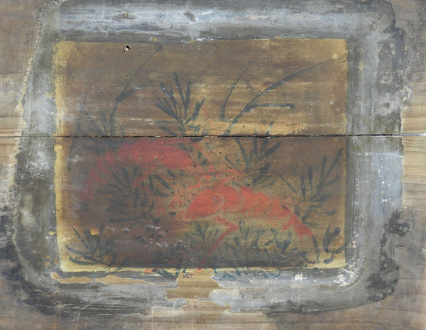 Crayfish Painting On Wood Panel