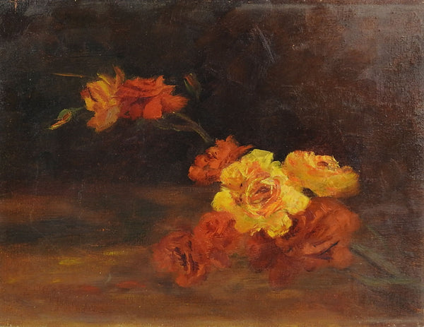 Yellow Roses Impressionist Still Life Painting