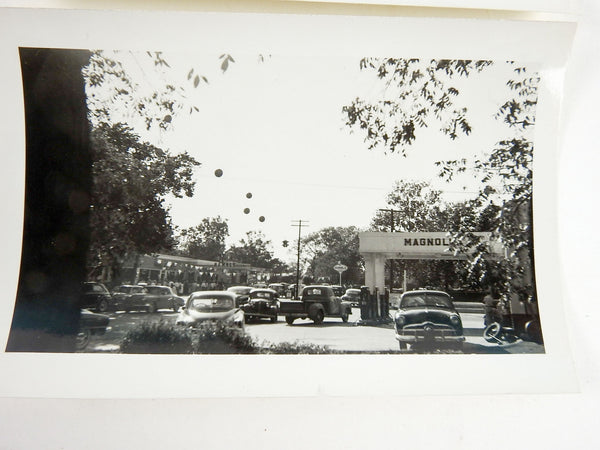 2 1940's Humble Oil Magnolia Service Stations Photographs