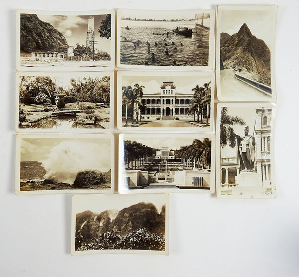 1930's Hawaii photos Diamond Head Diving - Set of 9