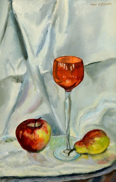 Stemware & Fruil Still Life Painting