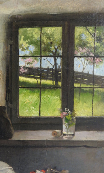 Spring Outside By Carl Voss Painting