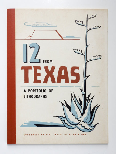 1952 Partial Portfolio of Lithographs Texas Artists
