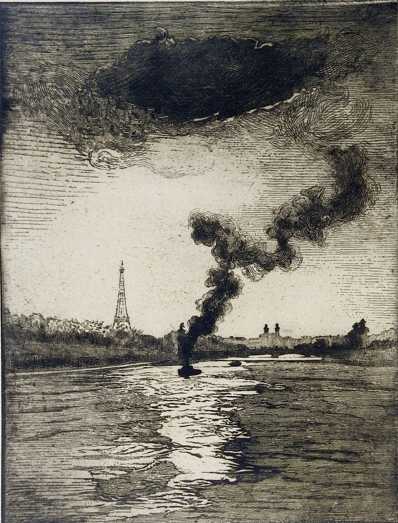 1923 Edouard Leon Paris Etching