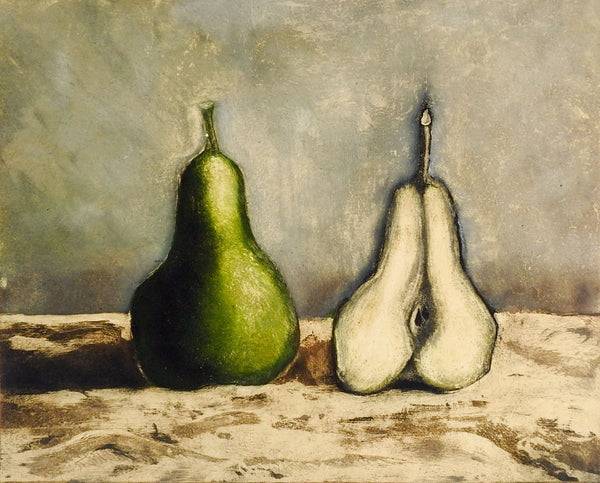Modernist Pear & A Half Etching Print