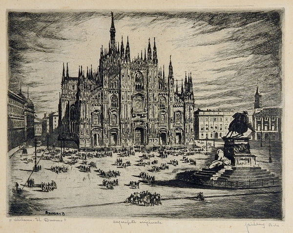 Milan Cathedral Etching
