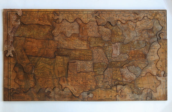 1850's Wood Puzzle USA Map