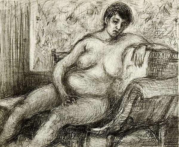 Reclining Nude Lithograph