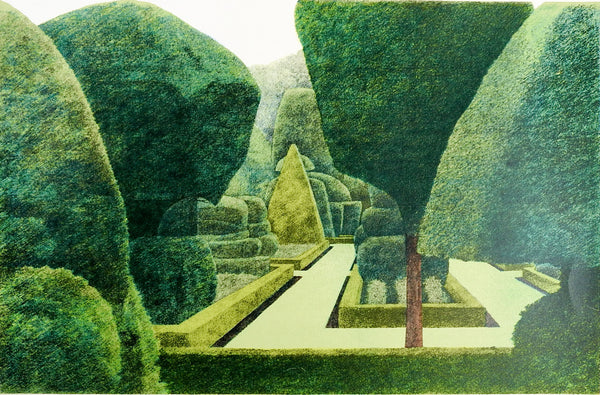 Levens Hall Topiary Garden Lithograph