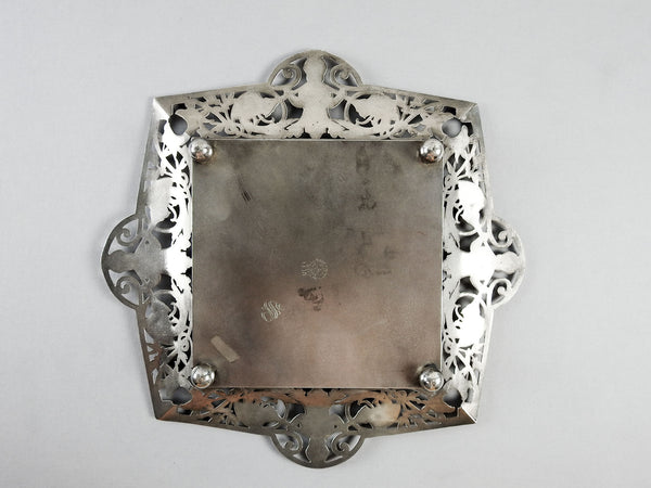 Antique Silverplate Cake Plate