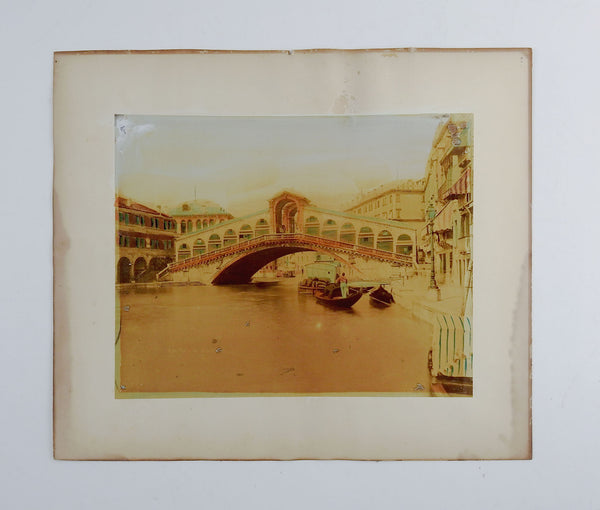 Antique Hand Tinted Photograph Of Venice Italy