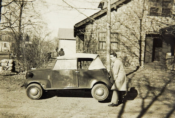 Who's Your Super Hero? Crosley Car Convertible 1930's Photograph