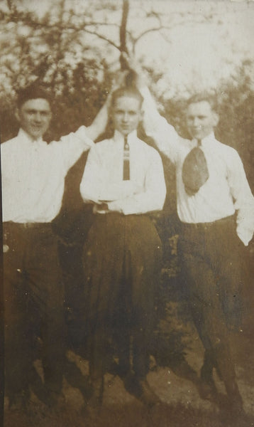 And Its A Tie RPPC Photograph