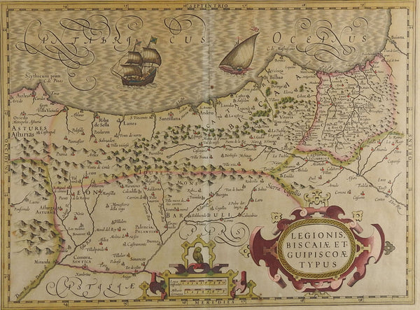 1628 Map of Spainish Coast
