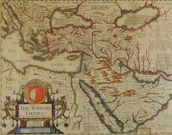 1626 Map Of The Turkish Empire