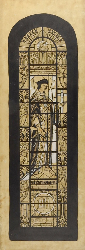 Thomas More Stained Glass Drawing