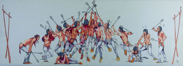 Playing Stickball  Painting By Lee Joshua