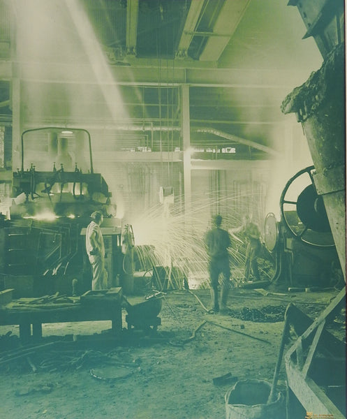 1960's Industrial Steel Foundry Photograph
