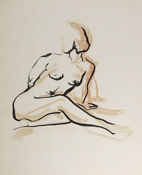Pen & Ink Nude Drawing