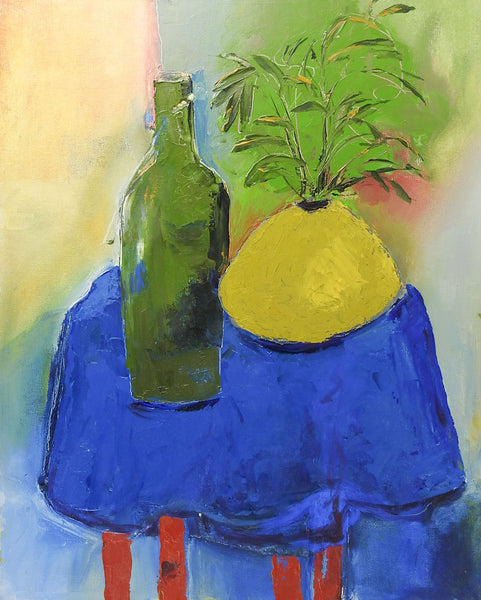 Blue Table Still Life Painting By Bruce Clements