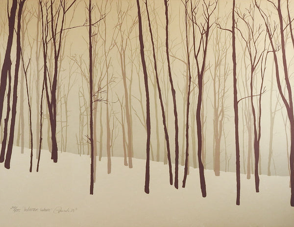 Winter Woods Serigraph Print