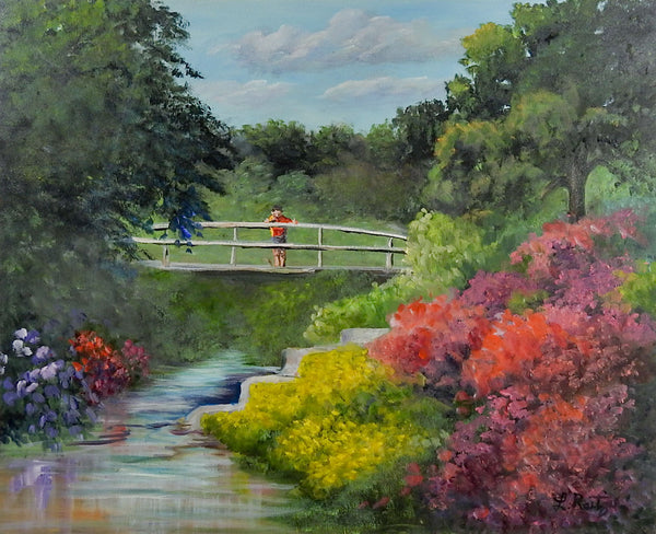 Spring Landscape & Bridge Painting