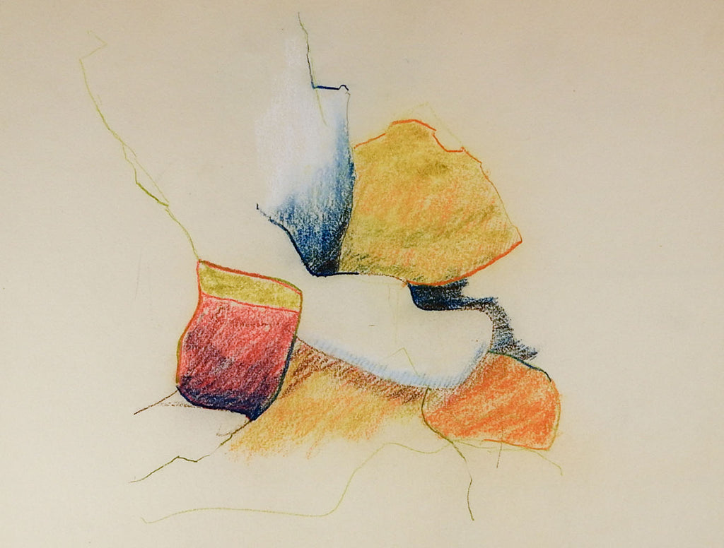 Color Pencil Abstract Drawing Artifax Antiques Design