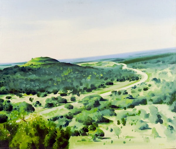 Green Landscape Painting