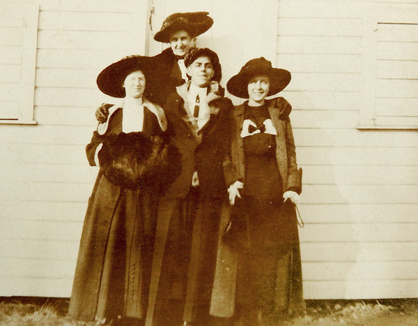 Handsome Guy Gets All The Girls 1900's Photograph
