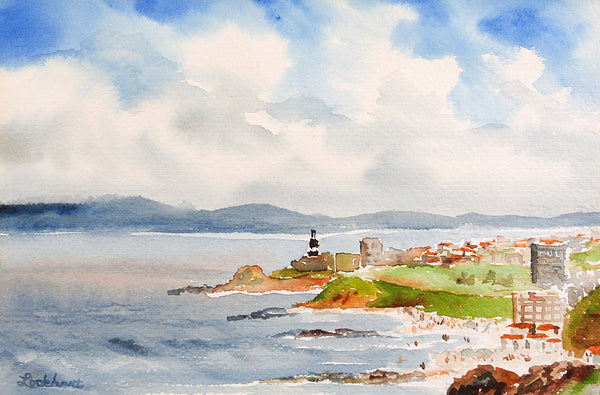 Sunday Beach Brazil Watercolor Painting