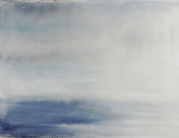 Sea Squall In Blue Painting