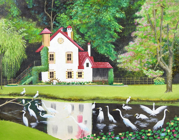 Fairy Tale Cottage Painting
