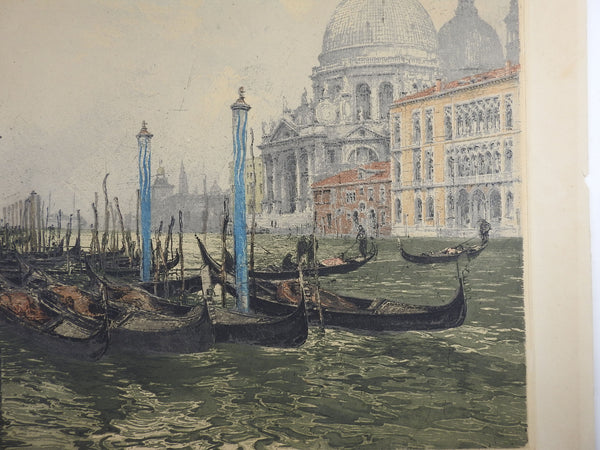 Venice Canals by Luigi Kasimir Etching