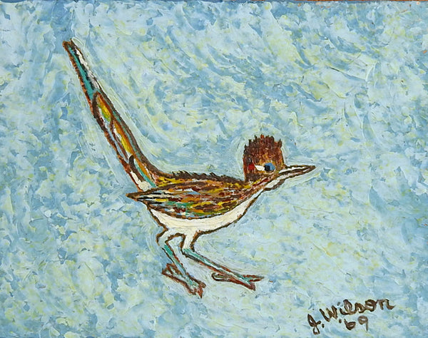 Miniature Roadrunner Painting