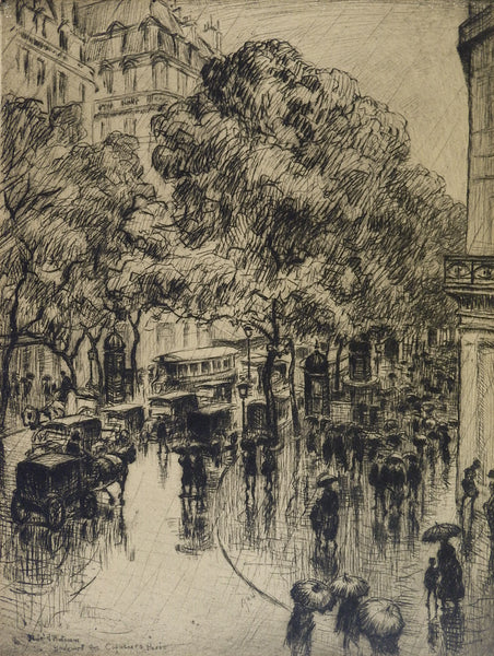 Paris Etching By Frank Armington
