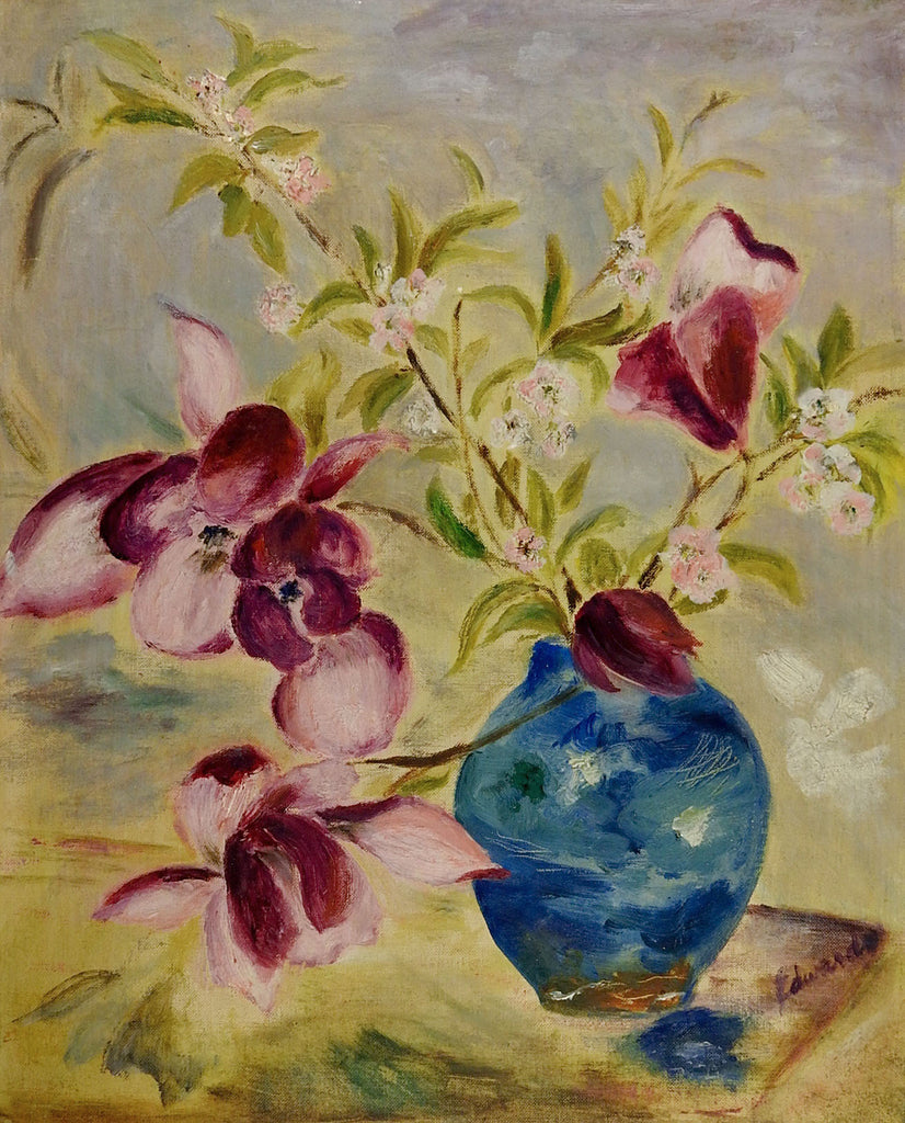 Purple Orchids Still Life Painting
