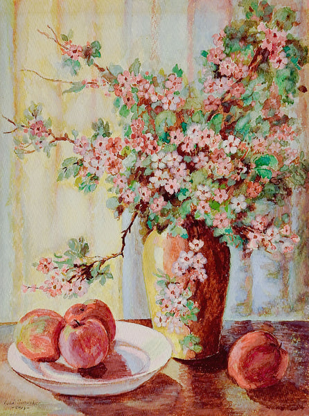 Apple Blossom Still Life Painting