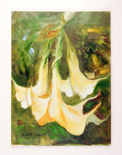 Angel Trumpet Blossom Painting