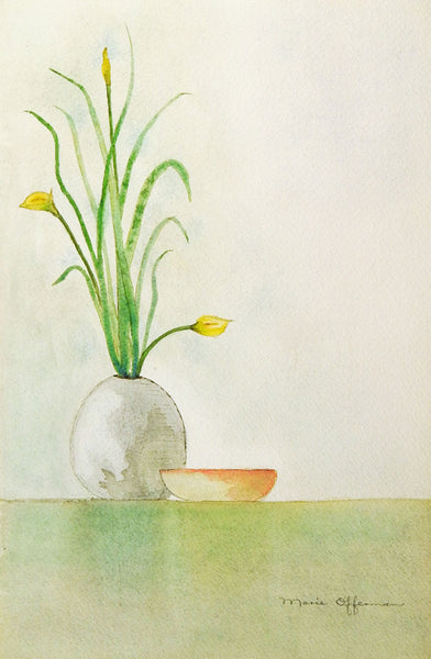 Minimalist Still Life Watercolor Painting