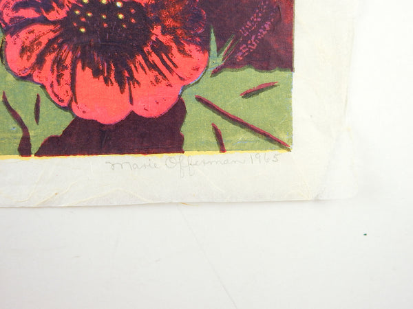 Bold Floral Serigraph