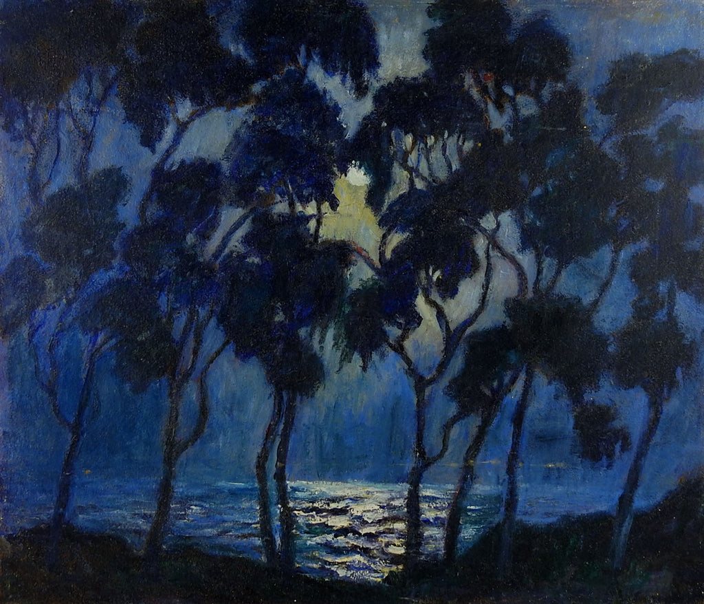 Evening Moonlight at the Beach Painting