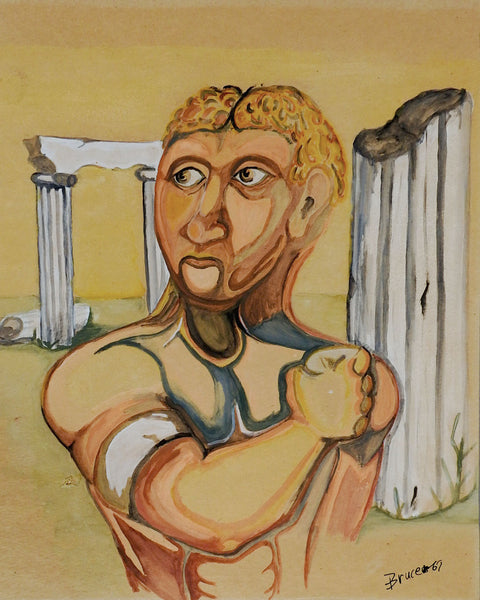 Folk Art Roman Gladiator Painting