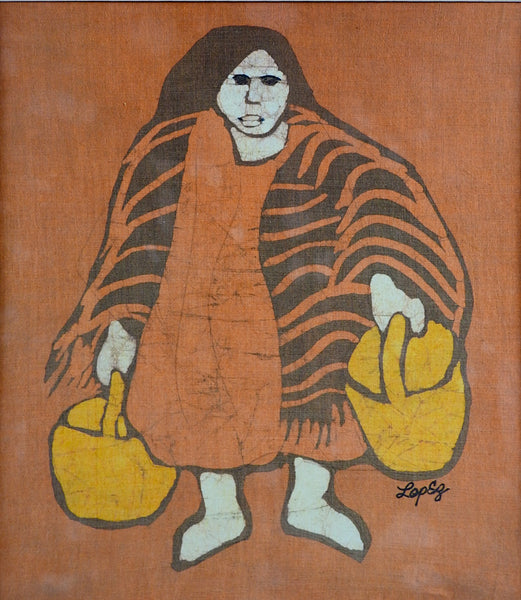 Batik Portrait By Mary  Louise Lopez