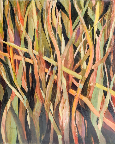 Abstract Field of Grass Painting