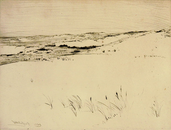 Winter Fields Etching By WHW Bicknell