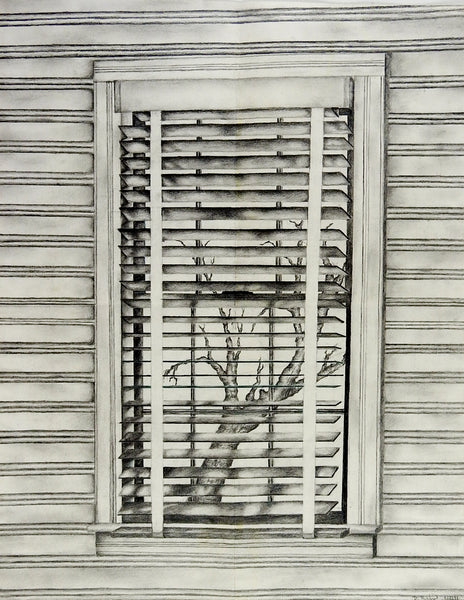 Window View Pencil Drawing