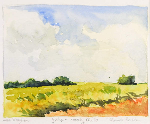 Round Rock Texas Plein Air Watercolor Painting